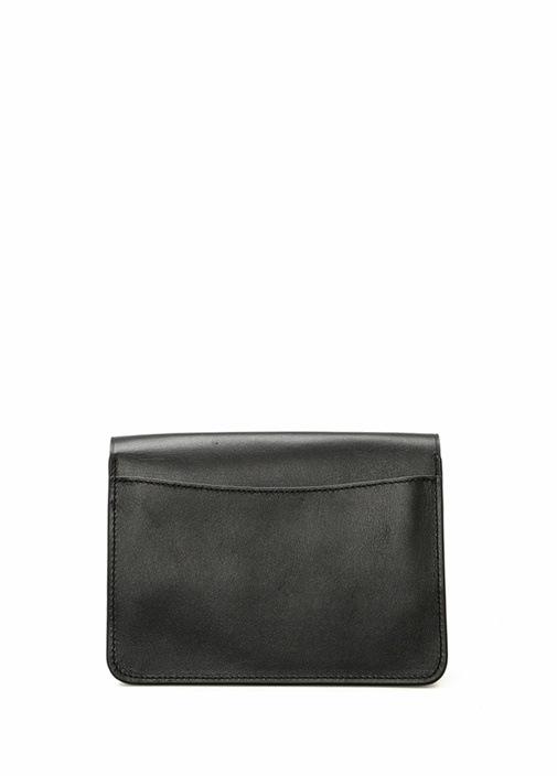 Bowery Siyah Gül Figürlü Kadın Deri Çanta
