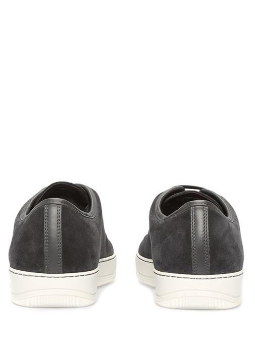 Gri Rugan Detaylı Süet Erkek Sneaker