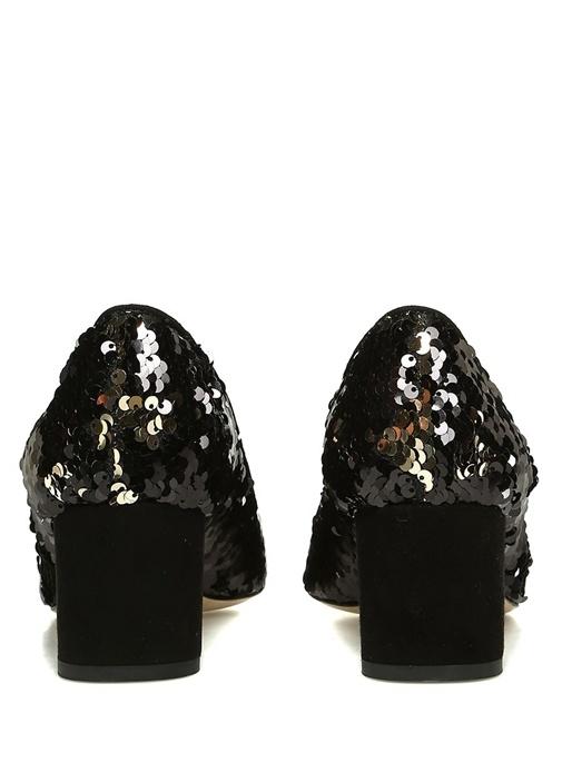 Siyah Pullu Kadın Gece Ayakkabısı