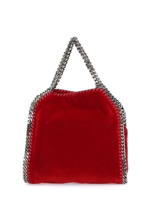 Falabella Mini Bordo Kadife Kadın Çanta