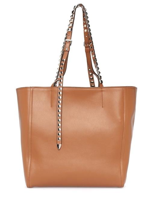 Taba Logolu Kadın Deri Çanta