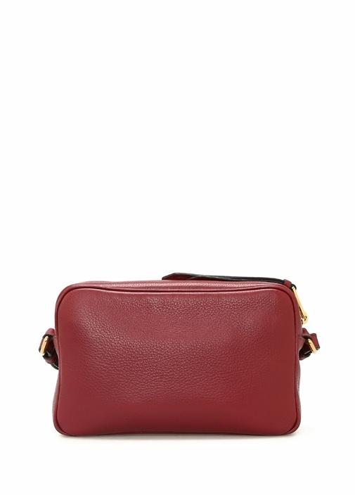 Kırmızı Logolu Kadın Deri Çanta