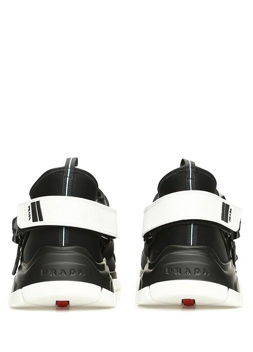 Siyah Klips Kapatmalı Logolu Erkek Sneaker