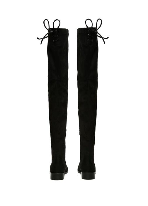 Siyah Çorap Formlu Kuşgözlü Kadın Çizme