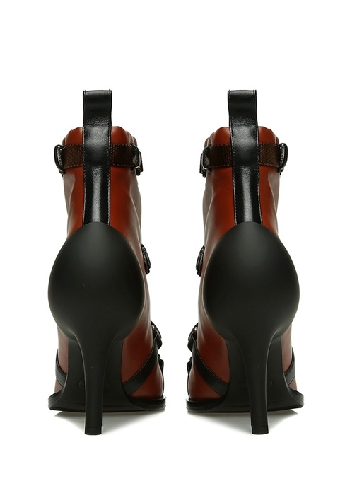 Tracy Kahverengi Kemer Detaylı Kadın Deri Bot