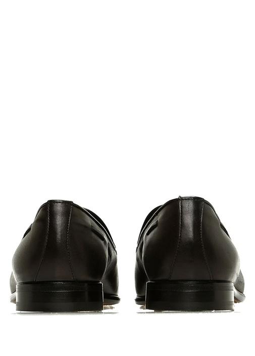 Siyah Püsküllü Erkek Deri Loafer