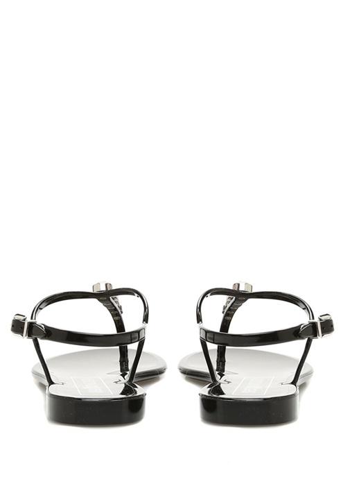 Siyah Trok Detaylı Kadın Sandalet