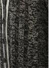 Antrasit V Yaka Düğmeli Şeritli Uzun Hırka