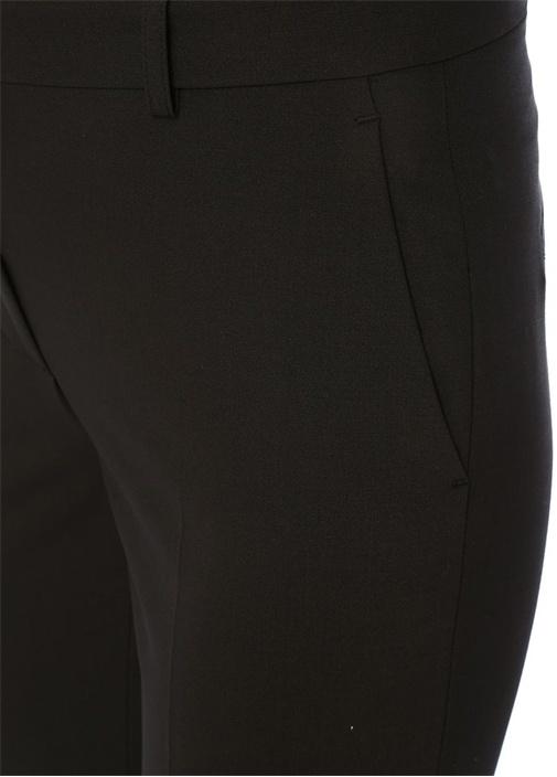 Siyah Normal Bel Yırtmaçlı Cigarette Pantolon