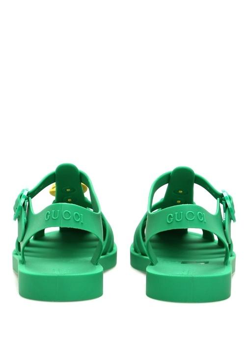 Yeşil Çapa Broşlu Bantlı Çocuk Terlik