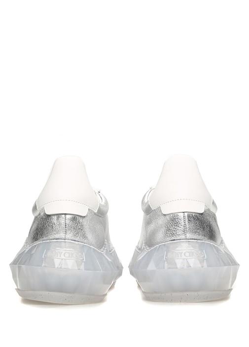 Diamond Beyaz Silver Kadın Deri Sneaker