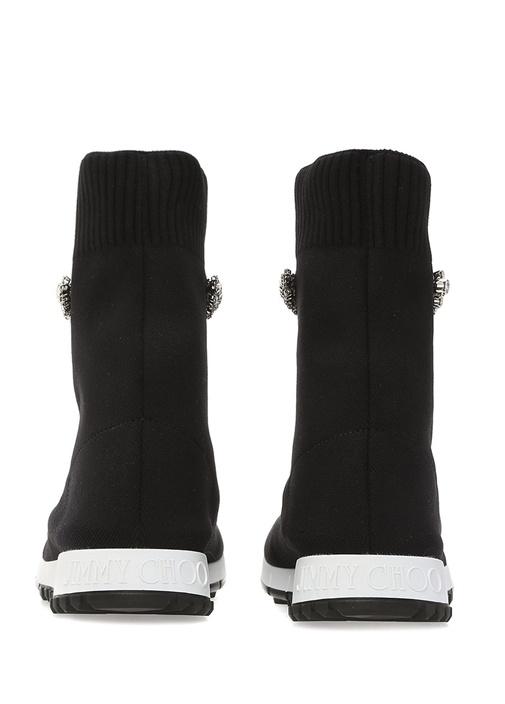 Regena Siyah Taşlı Çorap Formlu Kadın Sneaker