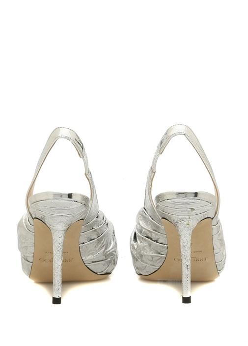 Annabell Silver Topuklu Deri Sandalet