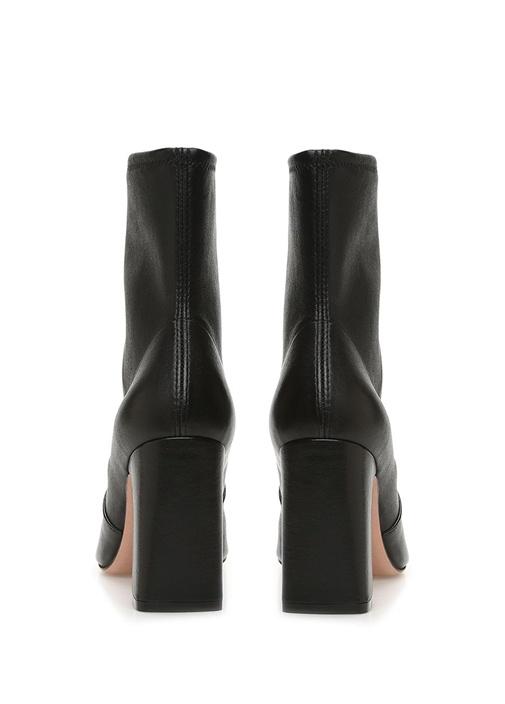 Niki Siyah Kadın Topuklu Deri Bot