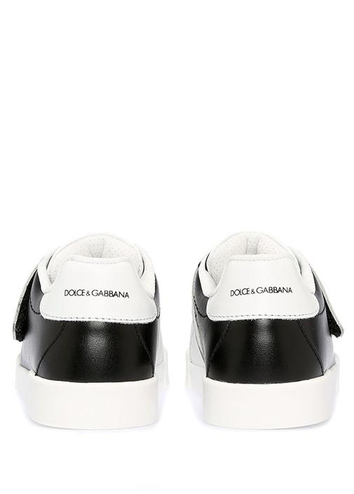 Siyah Beyaz Logolu Erkek Çocuk Ayakkabı