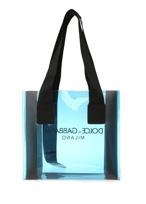 Street Mavi Logolu Transparan AlışverişÇantası