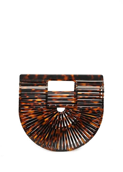 Ark Mini Kahverengi Desenli Kadın El Çantası