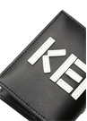 Siyah Beyaz Logo Patchli Erkek Deri Kartlık