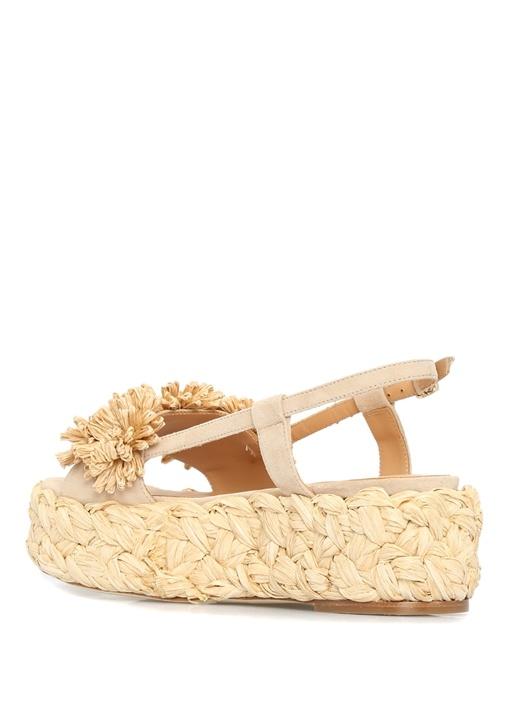 Odette Bej Taban Detaylı Patchli Kadın Sandalet