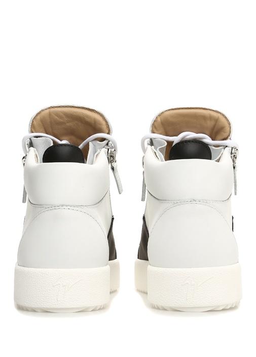 May Siyah Beyaz Erkek Deri Sneaker