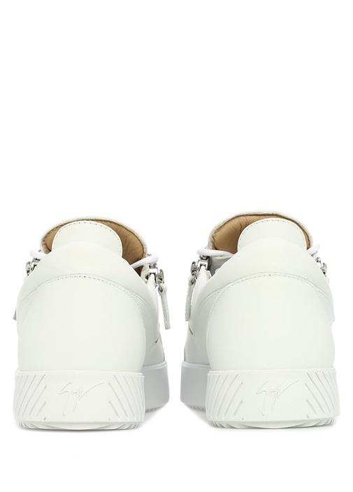 Frankie Beyaz Erkek Deri Sneaker