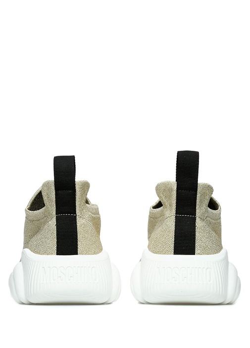 Gold Siyah Logo Jakarlı Sim Dokulu Kadın Sneaker