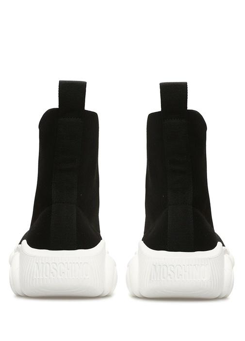 Siyah Beyaz Logo Jakarlı Kadın Sneaker