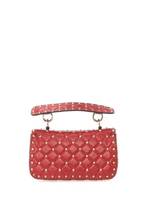 Rockstud Spike Medium Kırmızı Kadın Deri Çanta