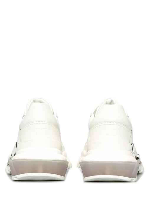 Bounce VLTN Beyaz Kadın Deri Sneaker