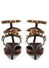 Rockstud Kahverengi Kadın Deri Sandalet