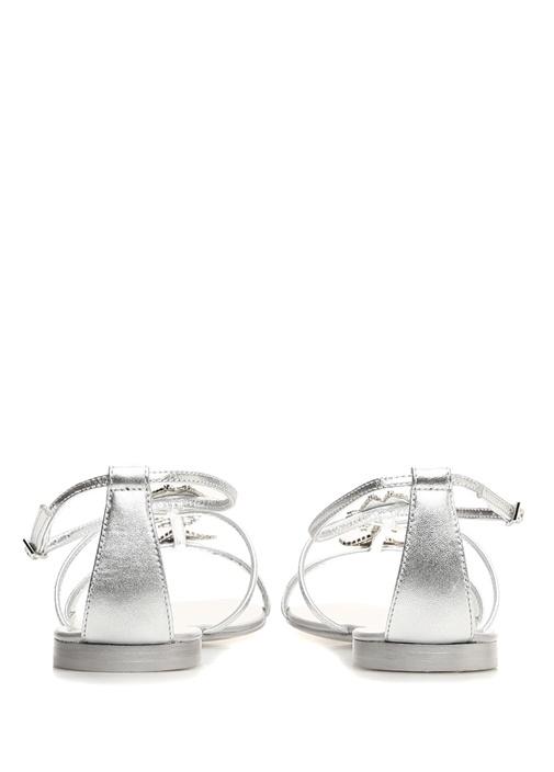 Newbury Silver Taş Detaylı Kadın Deri Sandalet