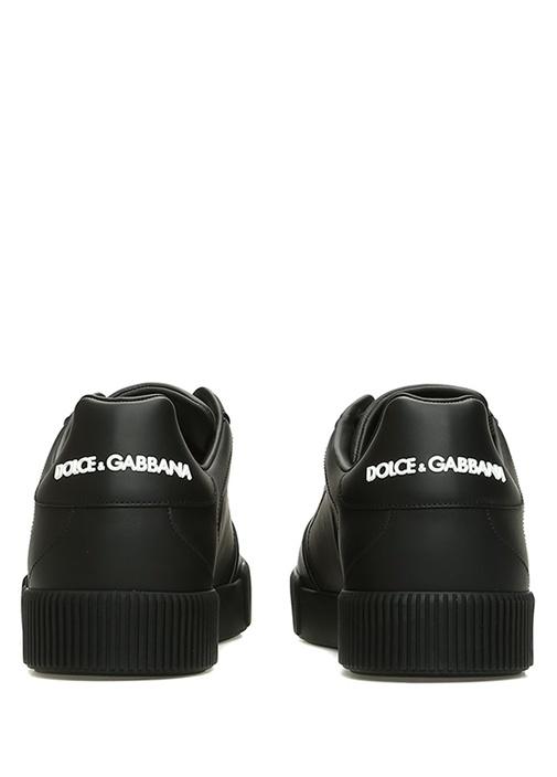 Portofino Siyah Delik Detaylı Erkek Deri Sneaker