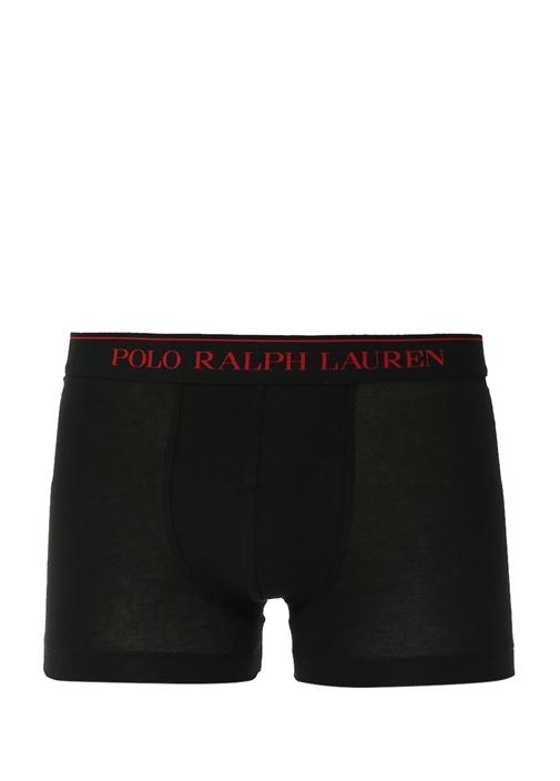 Siyah 3lü Logolu Boxer Seti