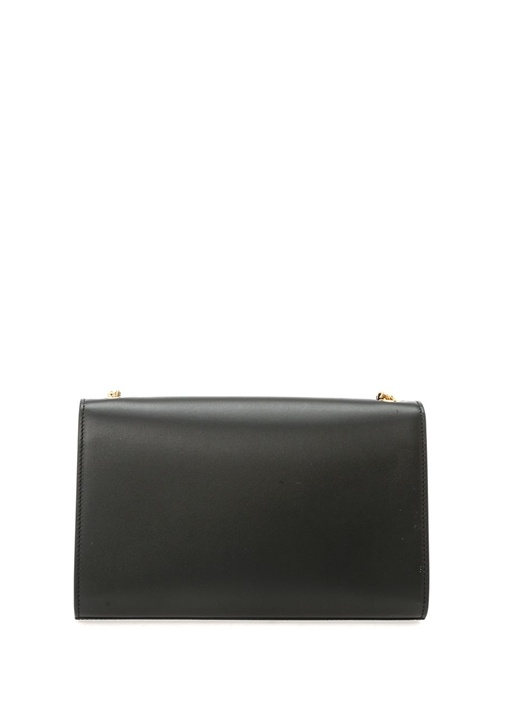 Kate Medium Siyah Logolu Kadın Deri Çanta