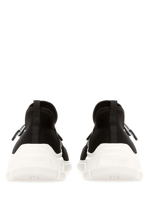 Siyah Beyaz Logolu Kadın Sneaker