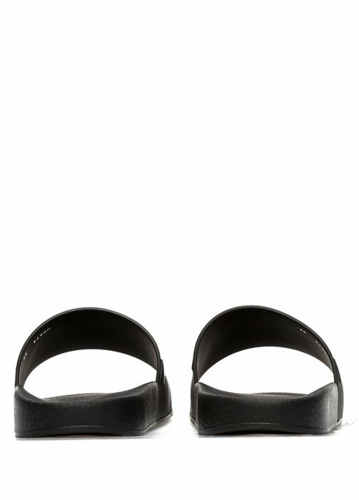 Siyah Logo Kabartmalı Erkek Terlik