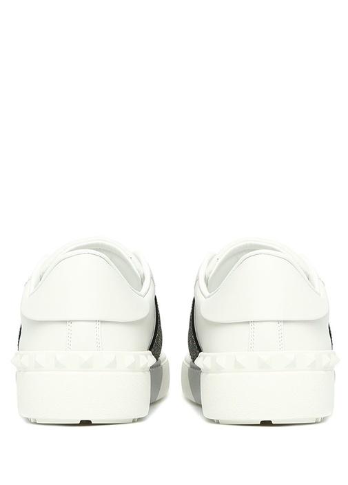 Beyaz Simli Şeritli Kadın Sneaker