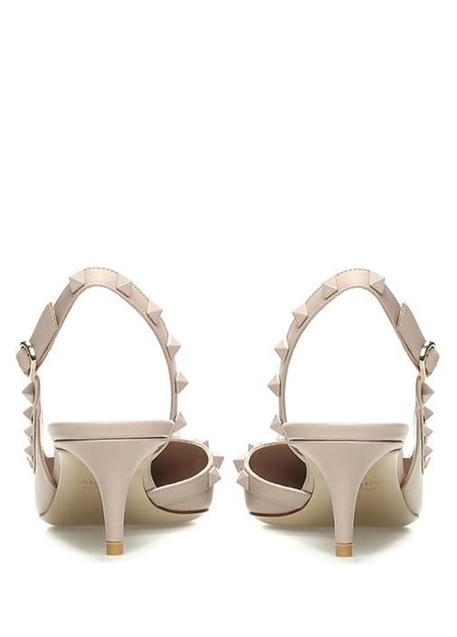 Rockstud Pudra Kadın Deri Sandalet