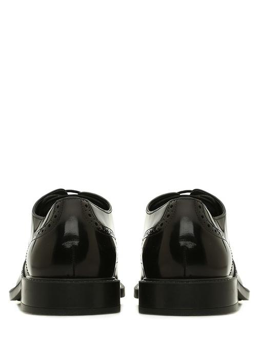 Siyah Delik Detaylı Erkek Deri Ayakkabı