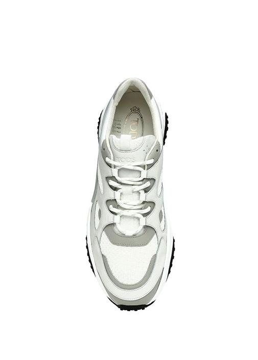 Gri Beyaz Logo Detaylı Erkek Sneaker