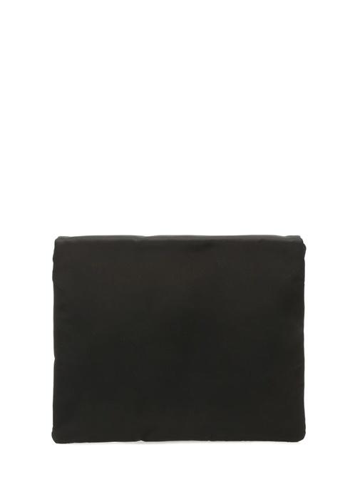 Siyah Silver Logolu Erkek Omuz Askılı Çanta