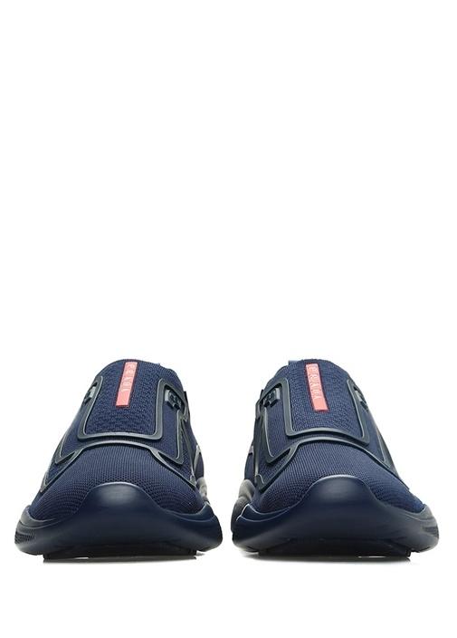 Lacivert Örgü Dokulu Erkek Sneaker