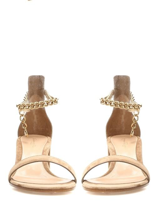 Bahia Vizon Zincir Detaylı Kadın Süet Sandalet