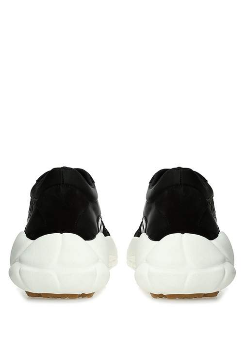 Siyah Logo Nakışlı Erkek Sneaker