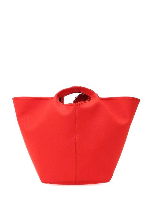 Vanity Kırmızı Logolu Kadın Alışveriş Çantası