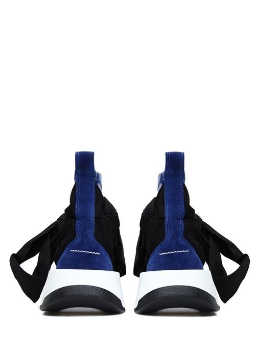 Mavi Siyah Bağcık Detaylı Kadın Sneaker