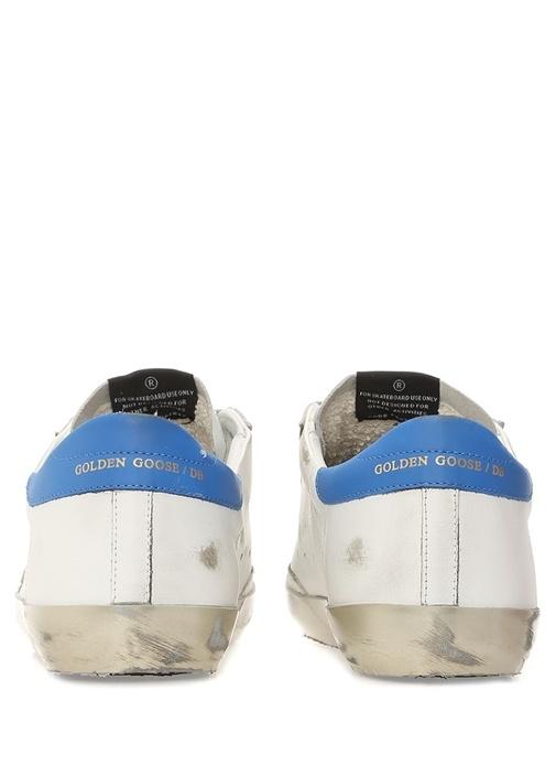 Superstar Beyaz Mavi Erkek Deri Sneaker