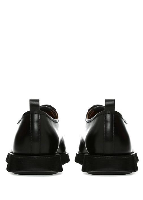 Siyah Logolu Erkek Deri Ayakkabı