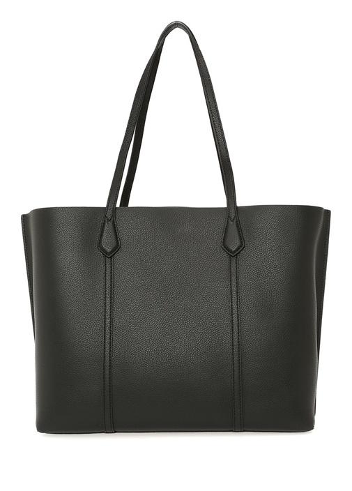 Perry Siyah Logolu Kadın Deri Çanta