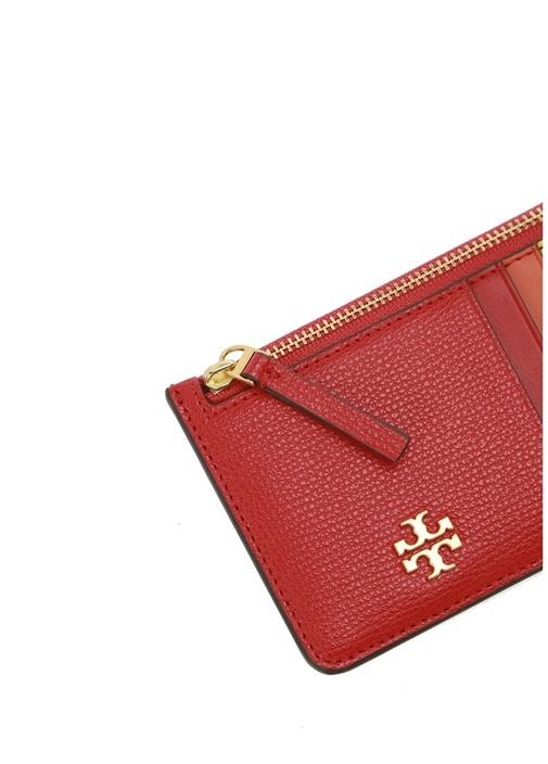 Kira Slim Kırmızı Logolu Kadın Deri Kartlık
